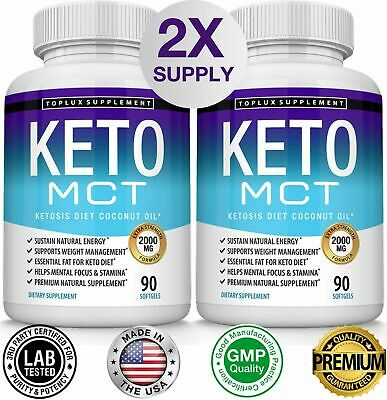 PURE MCT OIL Pills Diet 1000 MG (Raise Ketones High Faster C8&C10 for Everyone)