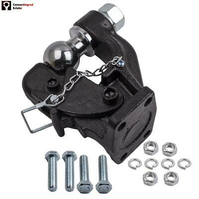 8000kg Pintle hook w/ combination 50.4mm tow ball rated 3500kg HITCH TRAILER 4WD