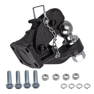 Heavy Duty 8 Ton Combination Hitch Pintle Hook Tow Towing 4 Bolt Truck Trailer