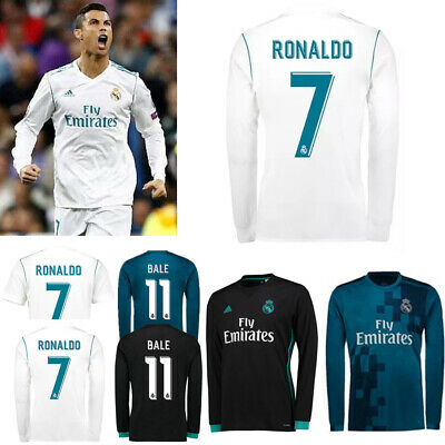 official photos 7cb5e 4e389 18-19 RONALDO LONG Sleeve Kit Football Soccer Kid Boys Jersey Club Suit  Outfits