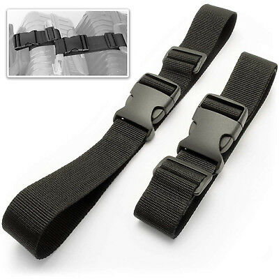 Add a Bag Luggage Strap Suitcase Adjustable Travel Attachment Belts Black