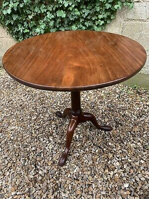 Antique Georgian Mahogany Tilt Top Table . Delivery Available