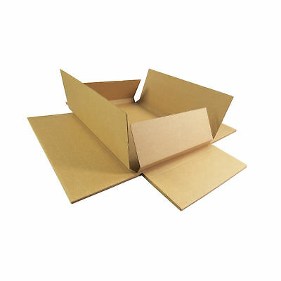 25 50 100 Brown Die-Cut Folding PiP Cardboard Boxes C4 Size Larger Letter RM