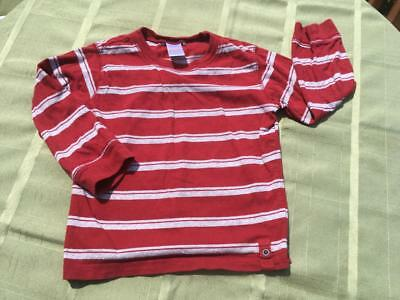 Gymboree Maroon And Gray Striped, Long Sleeved Boys Shirt: 3T*