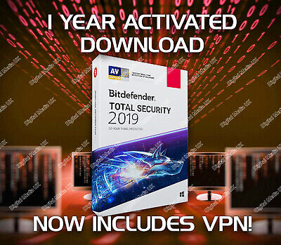 Bitdefender Total Security 2019 1 Device -  1 Year Activation Download