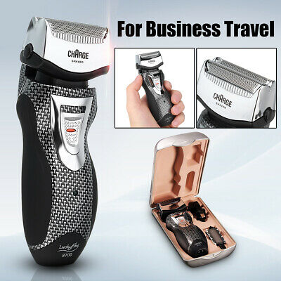 Dual Foil Men Rechargeable Electric Cordless Beard Shaver Facial Razor Trimmer