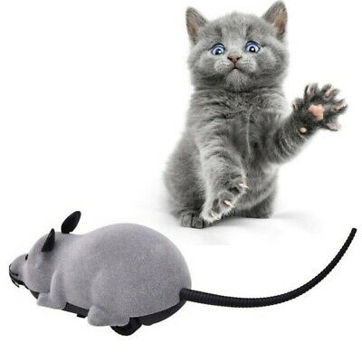 Wireless Remote Control RC Electronic Rat Mouse Mice Play Mock Toy For Cat Puppy