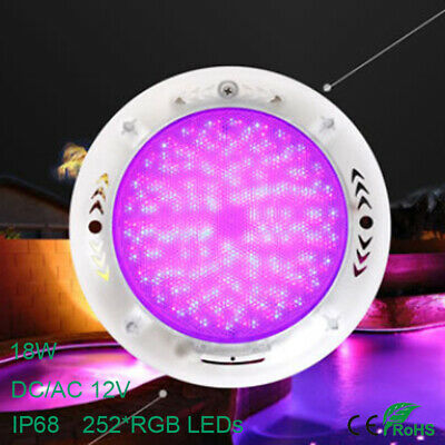 Filled Resin Swimming Pool Lights 252 LED 18W RGB Multi-color Underwater Lamp CE