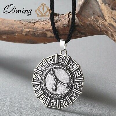 Slavic Jewelry Constellation Necklace Astrology Zodiac Sign Pendant Birthday Gif
