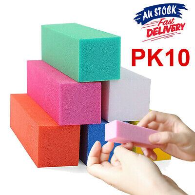 10 pcs Nail Sanding Block Buffer Acrylic Files Art OK