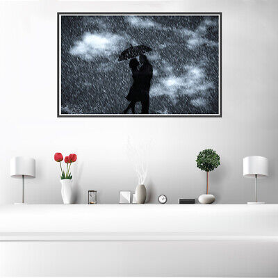 Lovers In The Rain Canvas Painting Poster Picture Bedroom Wall Home Art Decor