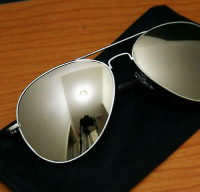 Silver Mirror Mirrored Sunglasses Fashion 80S Retro Mens Womens Ladies Round
