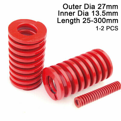 27mm OD Red Medium Load Compression Stamping Mould Die Spring 13.5mm ID All Size