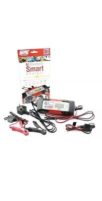 MAYPOLE Electronic Smart Car Battery Charger Fast/Trickle/Pulse Modes 4 AMP AGM