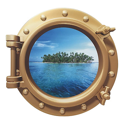 Cruise Ship Ocean Porthole Wall Art Sticker Mural Decal Kids Bedroom Decor BZ20