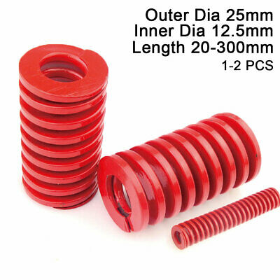 25mm OD Red Medium Load Compression Stamping Mould Die Spring 12.5mm ID All Size