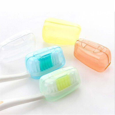 1set/5x New Portable Travel Toothbrush Head Cover Case Protective Caps cb