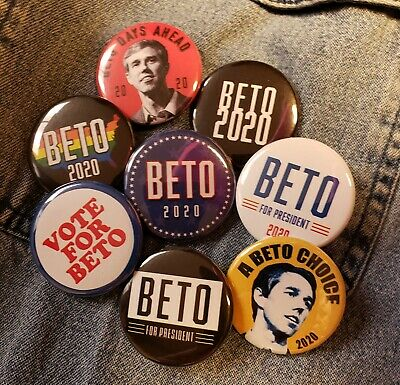 8 Beto O/'Rourke For President 2020 1.5 Inch Buttons Lot Pinbacks Pins