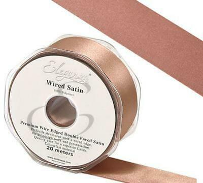 ROSE GOLD Double Sided Satin Ribbon - 10, 15, 25,38, 50MM width 20 m length