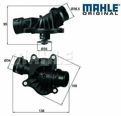 BMW E87 118d, 120d upto 2007 Thermostat with Housing MAHLE 11517805811