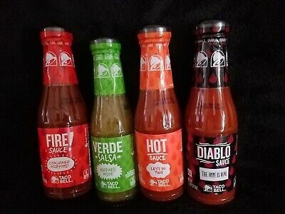 Taco Bell Sauce Lot of 4