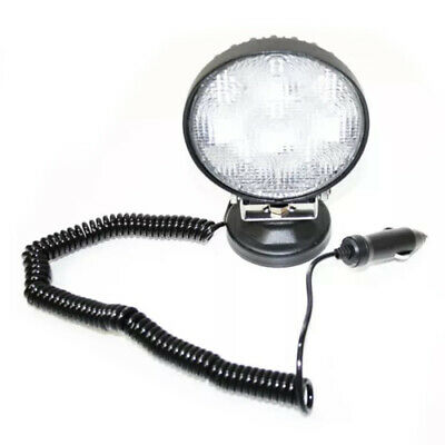 Portable 6 LED Work Light Floodlight Magnetic Round Lamp 18W Car Truck Off Road