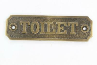 Oil Rubbed Bronze Large Toilet Brass Door Sign