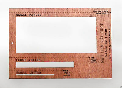 Royal Mail PiP Postal Template Letter Size Charge Guid Light Weight Version