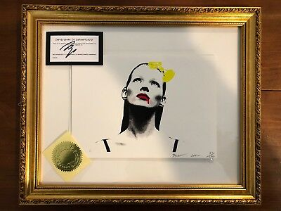 Death NYC - Kate Look Up Ye - Handsigned SOLD OUT Kate Moss