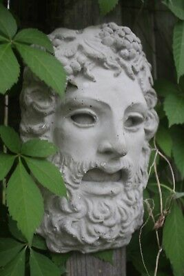 Concrete Cement Greek Roman God Dionysus Bacchus Yard Garden Statue Ornament