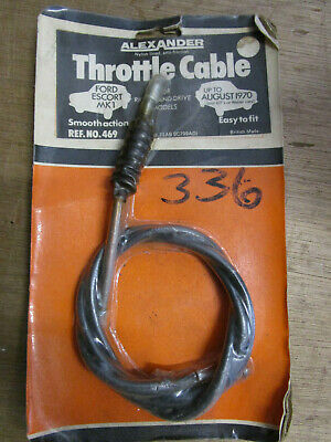 'Alexander' Throttle Cable Ford Escort Mki Up To Aug 1970
