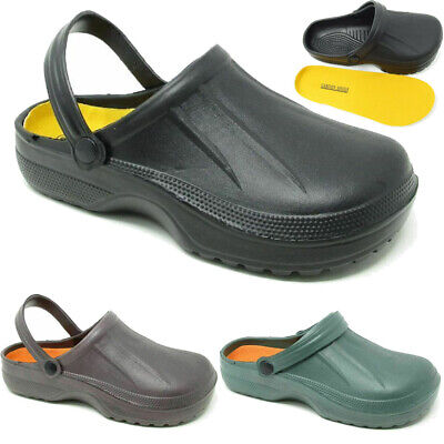 Men's Slip On Garden Clog Mule Work Summer Beach Holiday Sandals Shoes Sizes