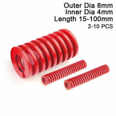 8mm OD Red Medium Load Compression Stamping Mould Die Spring 4mm ID All Sizes