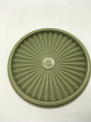 "VINTAGE TUPPERWARE #808 HARVEST GREEN Servalier REPLACEMENT Lid 6.5"" ROUND Seal"
