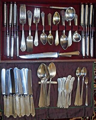 158pc Sterling Silver Gorham Whiting King Albert 1919 Flatware FULL Set for 12