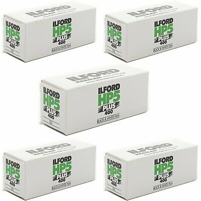 5 Rolls Ilford HP5 Plus 120 Black White ISO 400 Negative Print Film Exp 2021