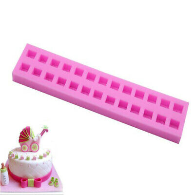 3D Letters Silicone Fondant Mould Cake Mold DIY Candy Baking Decorating Tool CB