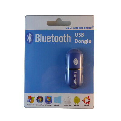 Usb Bluetooth Dongle Adapter 2.0+Edr For Pc/Laptop Win Mac - Uk Free Delivery