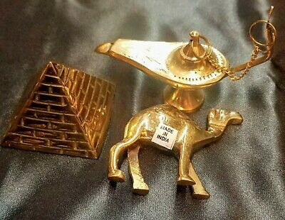 Big Sale Egyptian Solid Brass Pyramid,Genie Lamp Insence Burner and Camel