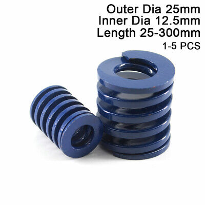 25mm OD Blue Light Load Compression Stamping Mould Die Spring 12.5mm ID All Size