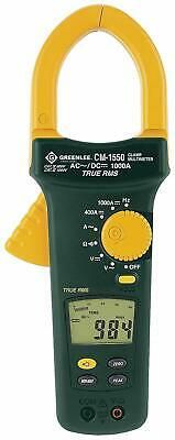 NEW Greenlee CM-1550 AC/DC True RMS Clamp Meter 1000 Amp 9 Function & Carry Case