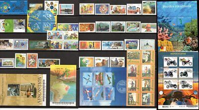 Brazil - 2002 - Complete Year - 47 stamps - 6 Souvenir Sheets -Mint Never Hinged