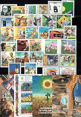 Brazil - 1996 - Complete Year - 31 stamps - 4 Souvenir Sheets-Mint Never Hinged