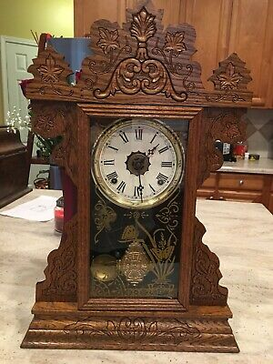 Sessions Gingerbread Kitchen Parlor Mantel Clock w/Alarm