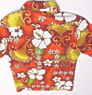 7521d0f6 True Vintage Mens Aloha HAWAIIAN 50's-60's Barkcloth S Shirt USA ROYAL MFG