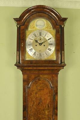 BURR BURL WALNUT LONGCASE GRANDFATHER CLOCK- Coates , London