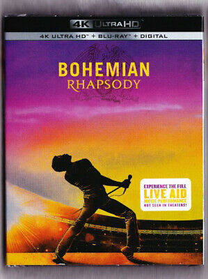 Bohemian Rhapsody 4K Blu-ray Digital Slipcover Brand NEW FREE~First Class Ship!