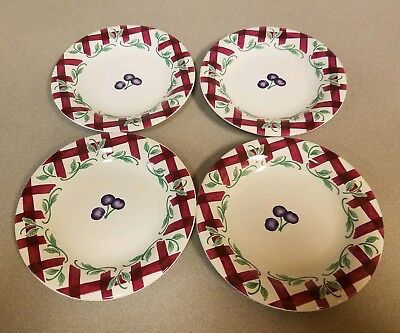 Princess House Orchard Medley Small Plates Set of 4