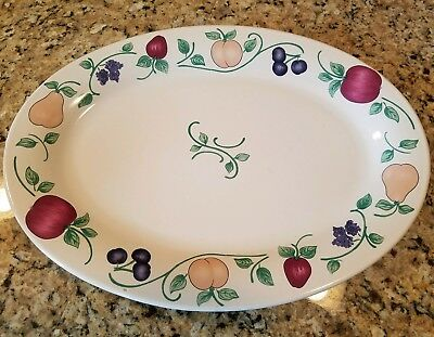 "Princess House ORCHARD MEDLEY 15"" Oval Serving Platter 1674508"