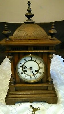 Antique Mantle Clock Made By unghans j 14 Day Strike Early 1900s